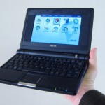 The Eee PC easily fits in your hand.